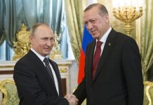 Russian President Vladimir Putin and Turkish Prime Minister Recep Tayyip Erdogan met in Moscow