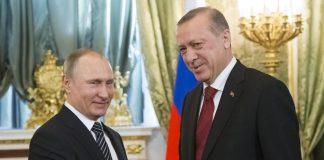 Russian President Vladimir Putin and Turkish Prime Minister Recep Tayyip Erdogan met in Moscow