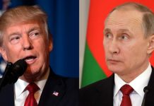 Russia's President Putin and US President Trump