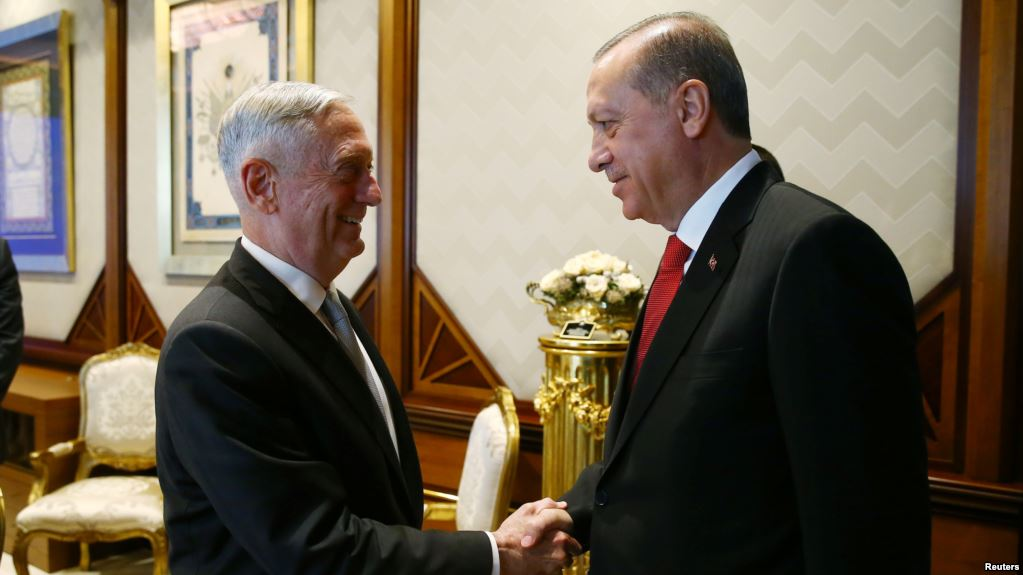 James Mattis, Erdogan, military cooperation, PKK, Syria, Islamic State