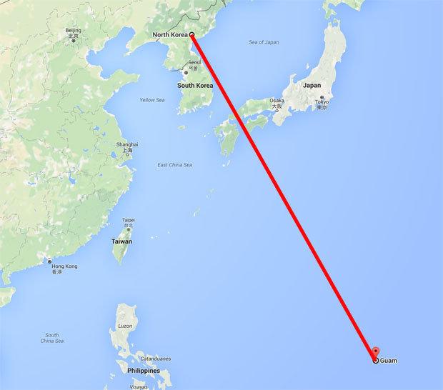 Guamnorthkorea The Globe Post - Guam world map