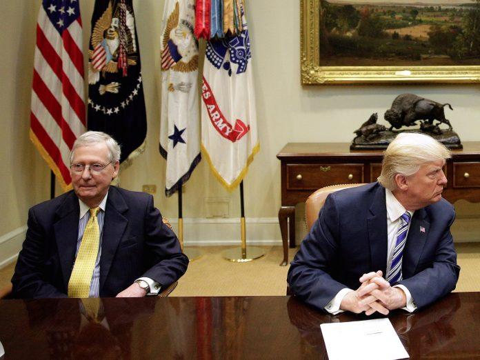 feud, trump. senate, majority leader, mcconnell