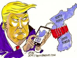 trump cartoon north korea