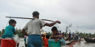Rohingya refugees have been forced to flee Myanmar for neighboring Bangladesh