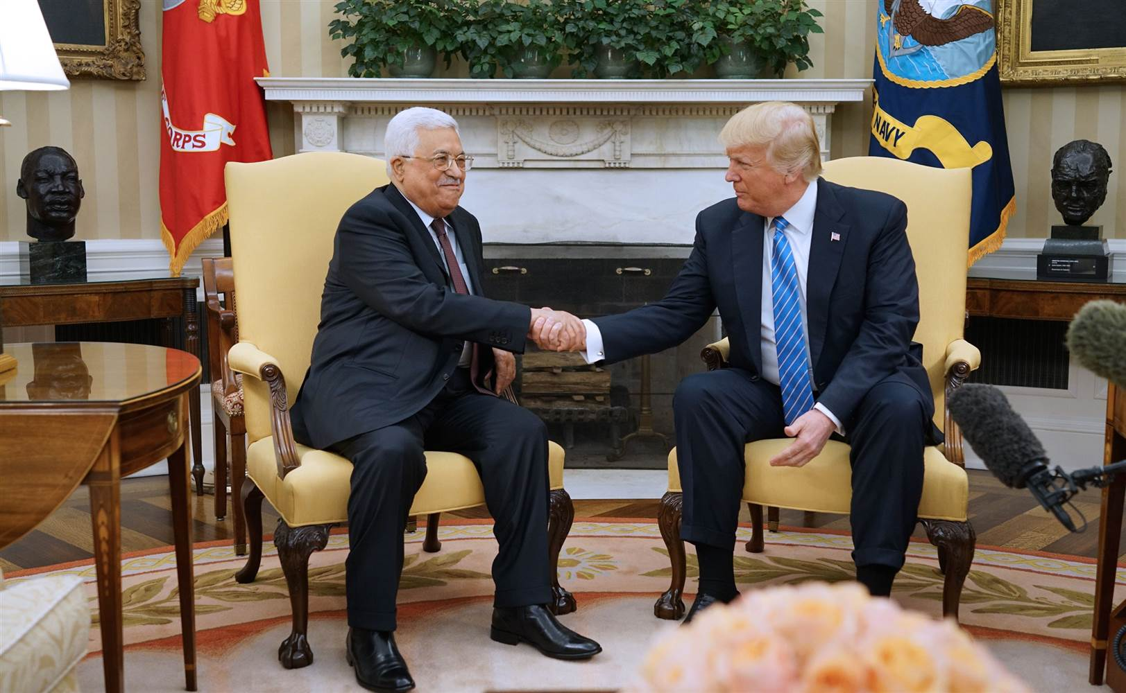 US President Donald Trump and Palestinian President Mahmoud Abbas