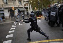 Catalan referendum, police
