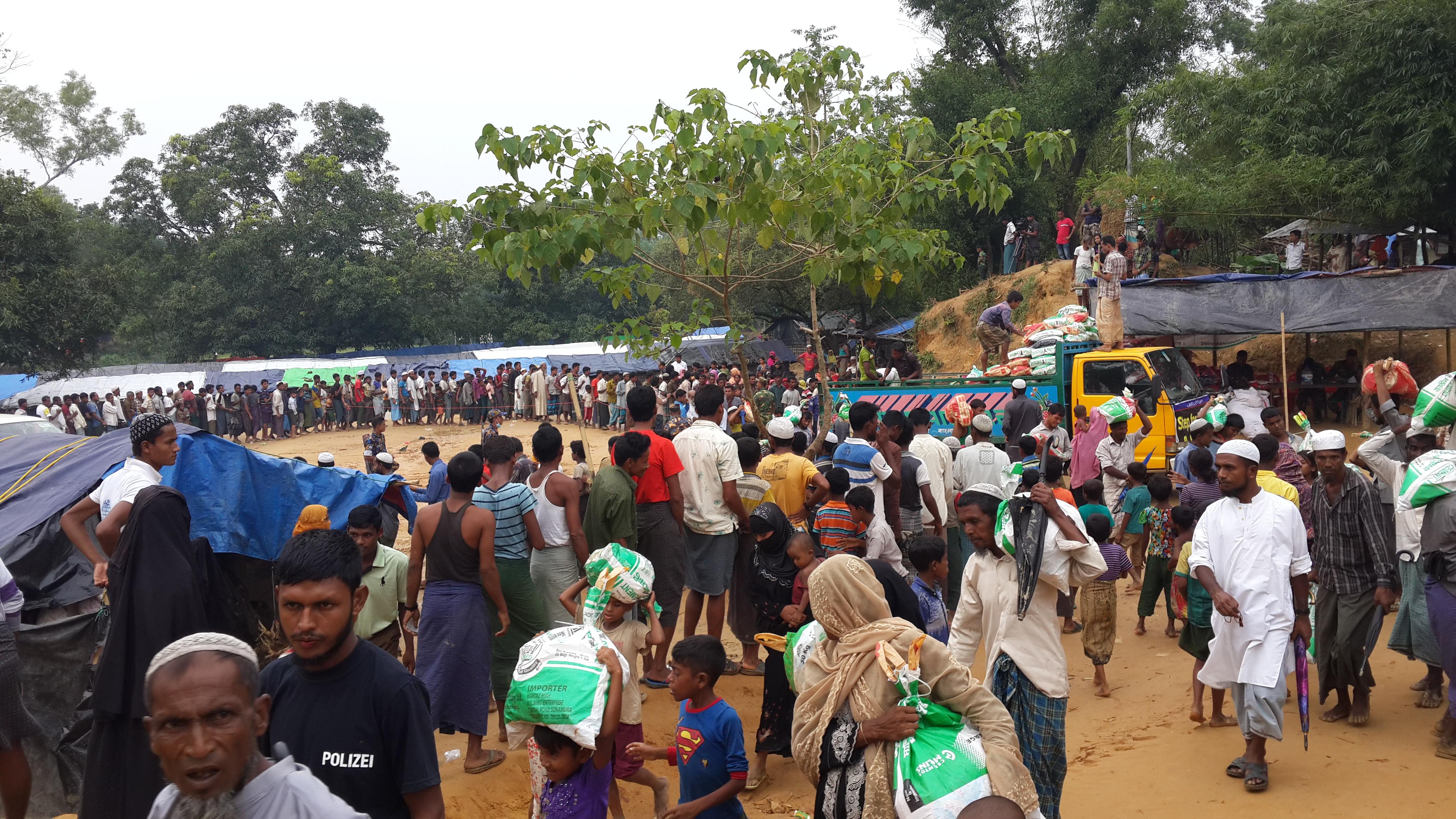 Myanmar Rohingya refugee camp