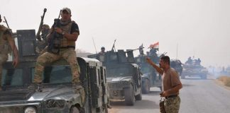 Iraqi troops move to Qaim and Rawa near Syria border after Hawija's capture in October 2017