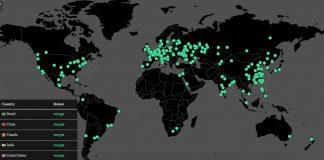 WannaCry botnet map