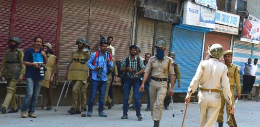 Protests in Kashmir, India