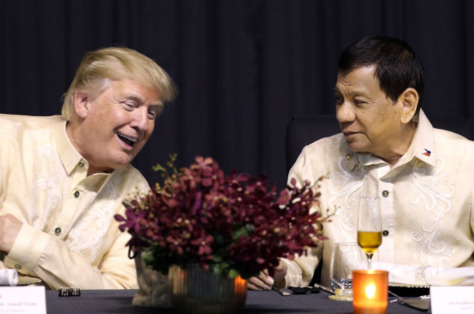 Duterte Putin Trump praise authoritarian leaders tyrants dictators