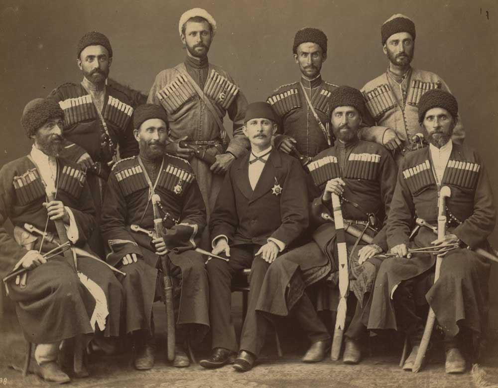 Eight Circassian men