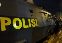 Armored car used by police in Indonesia