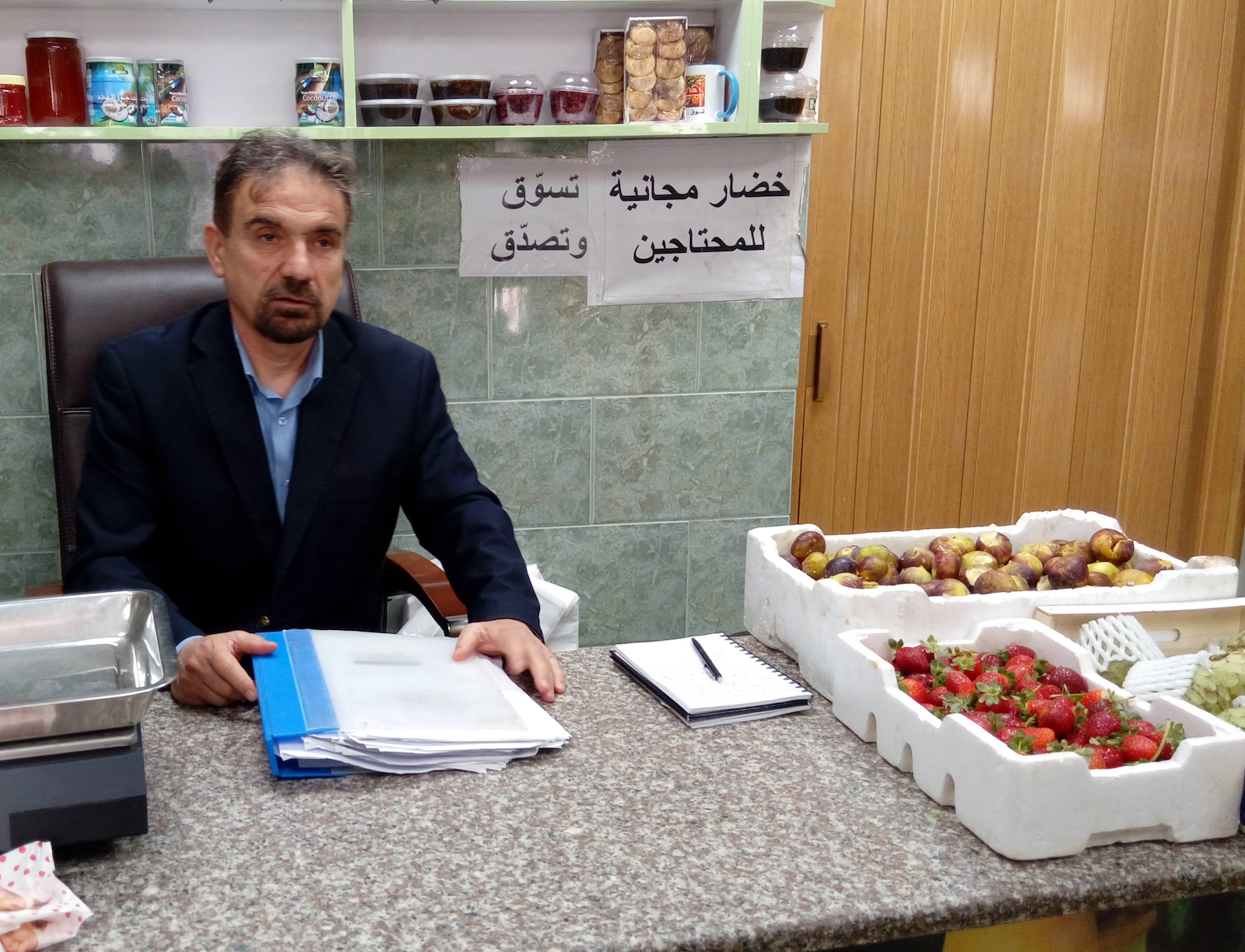 Tariq Jaikat organizes donations for Syrian Circassian families in Jordan.