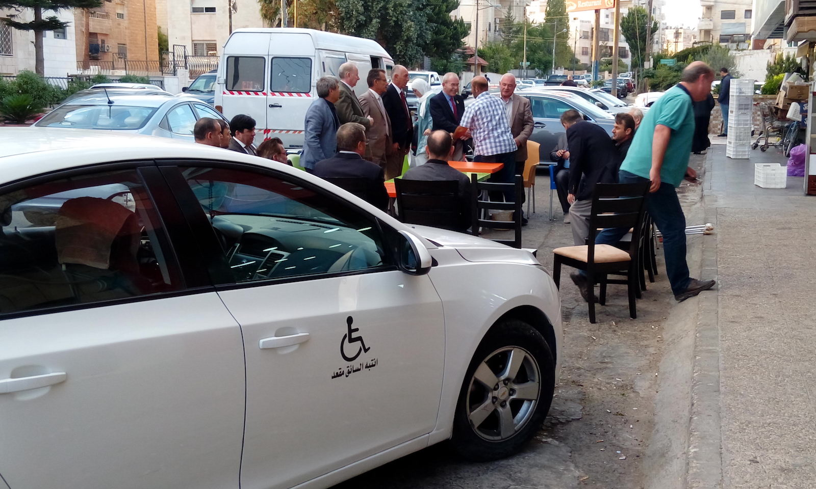 A donated car for a disabled person in the the Syrian Circassian community in Jordan