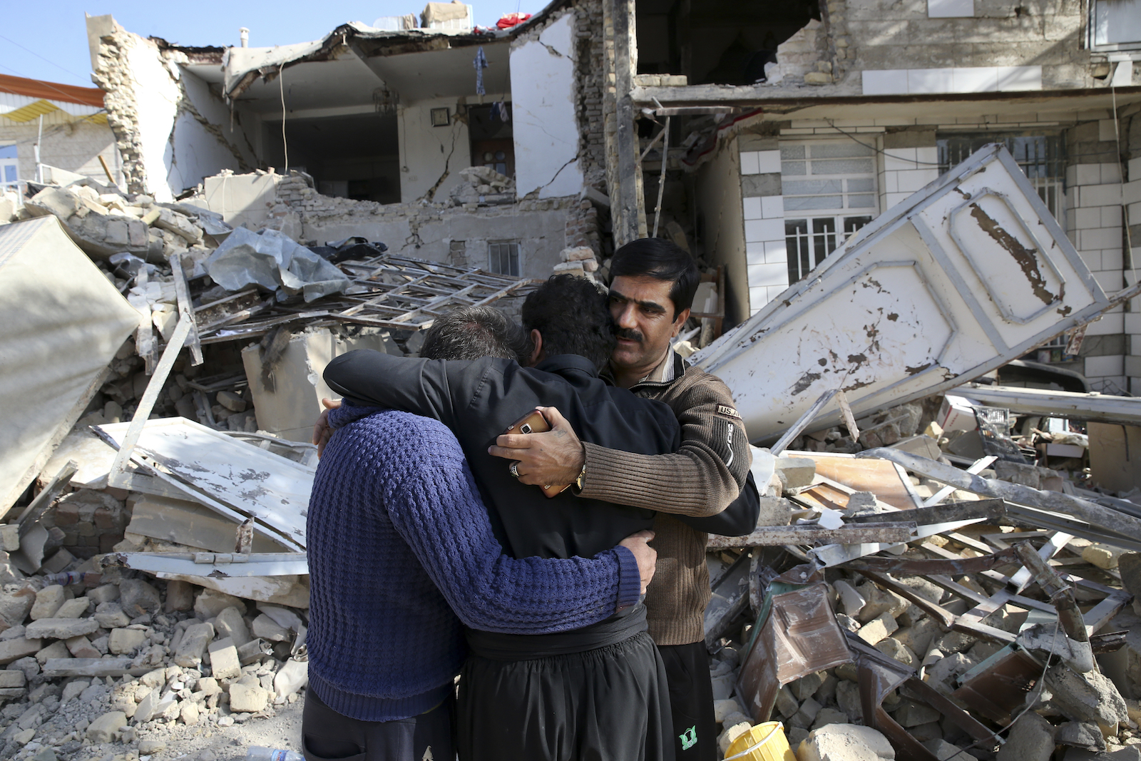 Survivors of the earthquake in Iran