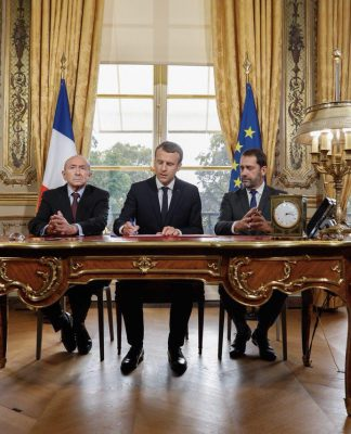 France's President Macron signed into law counter-terrorism measures