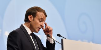 French President Emmanuel Macron spoke at the COP23 meeting in Bonn, Germany