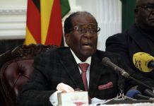 Zimbabwean President Robert Mugabe gave a speech on November 19, 2017