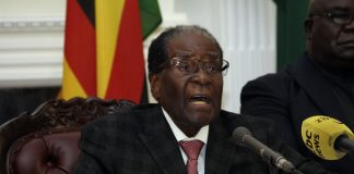 Zimbabwean President Robert Mugabe gave a speech on November 19, 2017