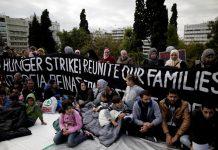 refugees Greece hunger strike