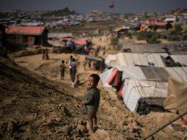 a Rohingya refugee camp in Bangladesh