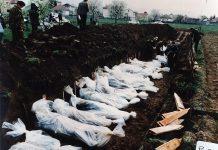 Bodies of people killed around Vitez in Bosnia in 1993