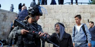 Israeli police disperse Palestinian protesters in Jerusalem's Old City