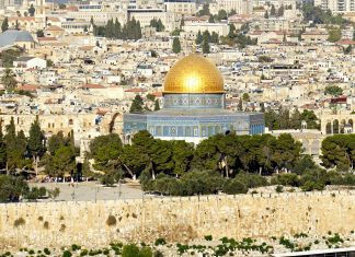 Hamas capital Dome of the Rock in Jerusalem