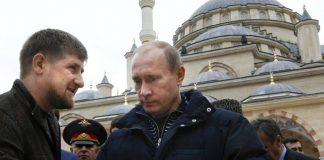 Chechen leader Ramzan Kadyrov and Russian President Vladimir Putin