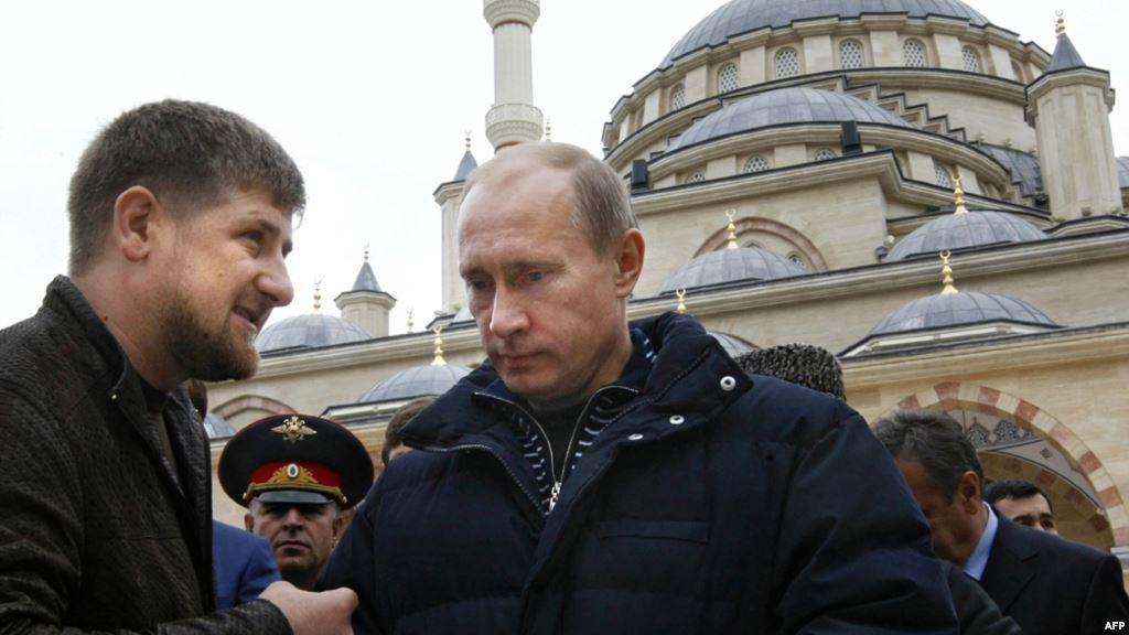 Chechen leader Ramzan Kadyrov and Russian President Vladimir Putin