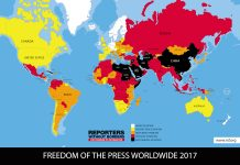 RSF 2017 press freedom index rankings