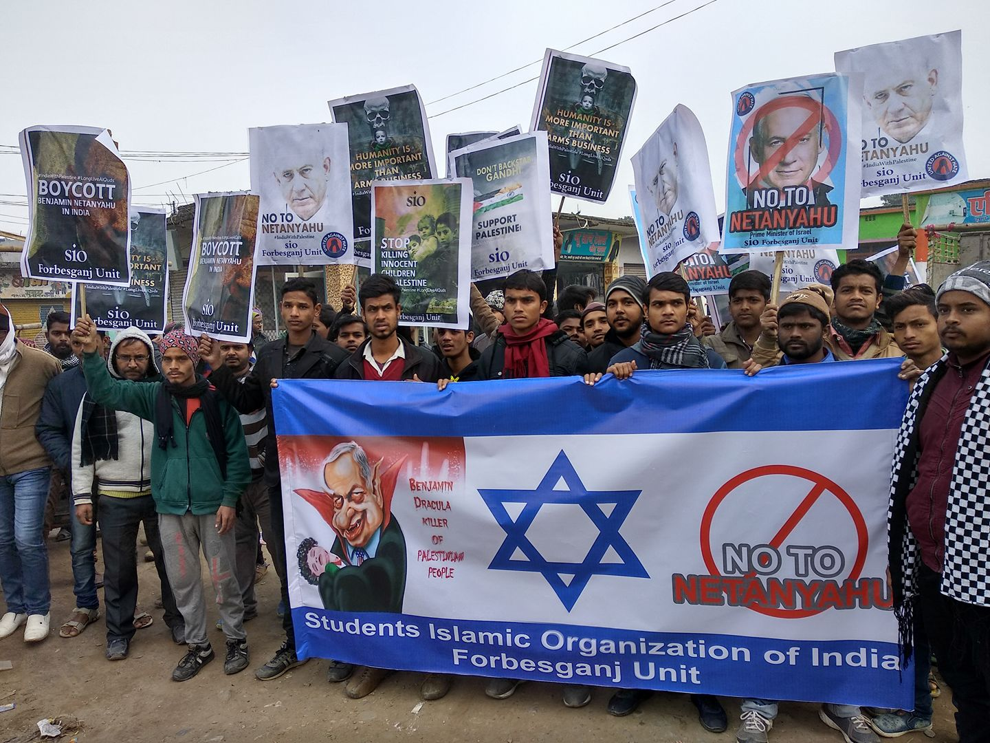 india-protests-netanyahu
