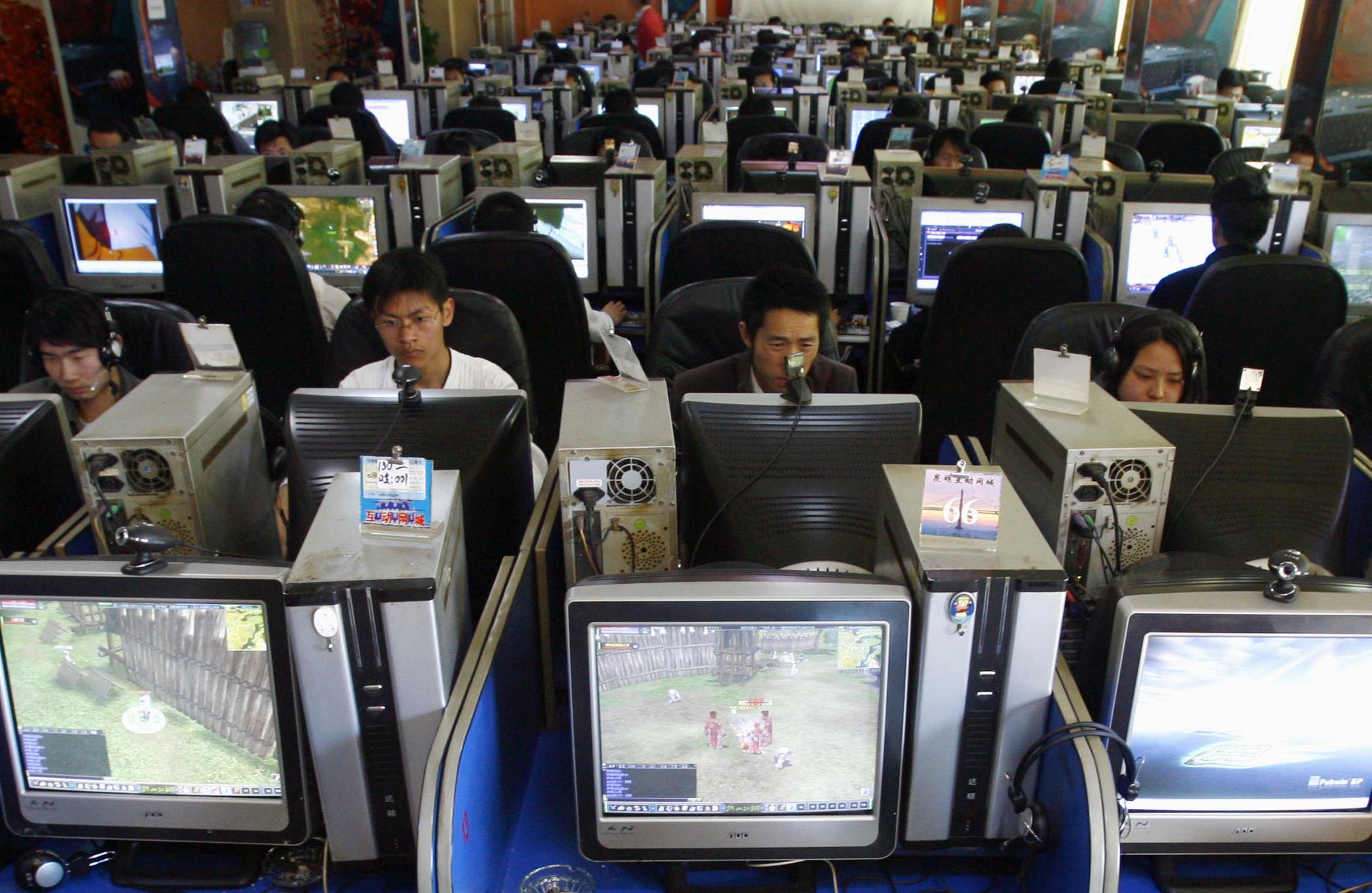 Chinese internet cafe censorship