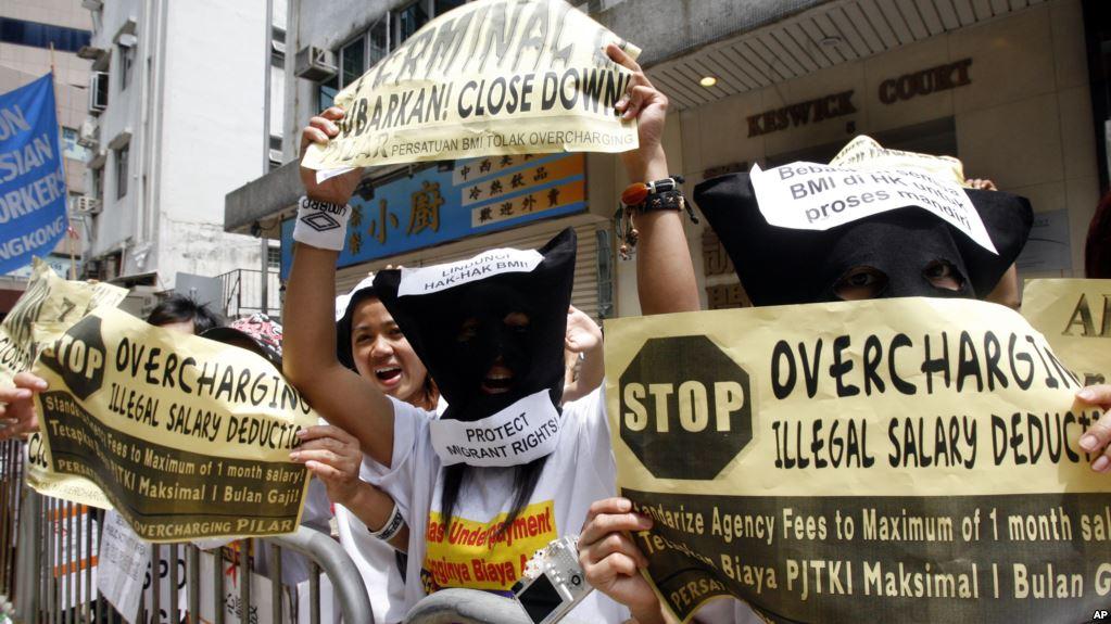 Indonesian migrant workers poor conditions