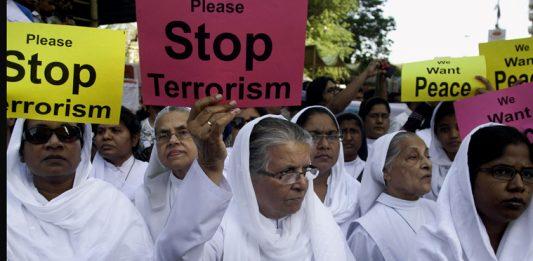 Protestors against terrorism in Pakistan