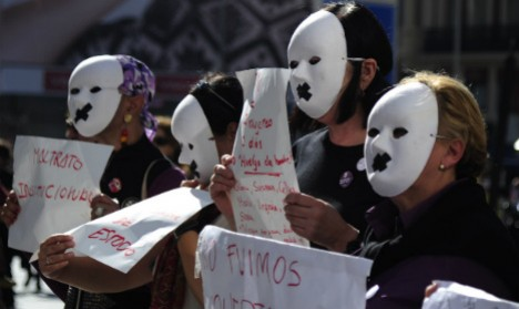 Spain domestic violence protest