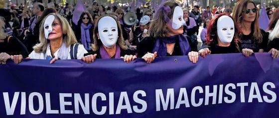 Spain gender violence machismo protest