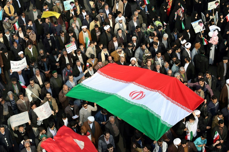 A rally in Iran