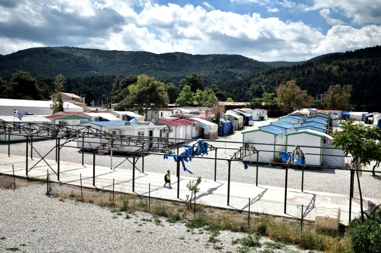 a refugee camp in Greece