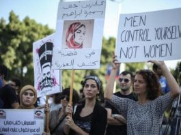 a rally for women's rights in Egypt
