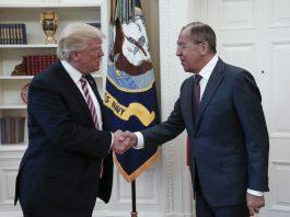 Donald Trump and Sergei Lavrov