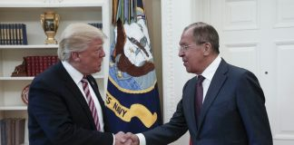 Donald Trump and Sergei Lavrov