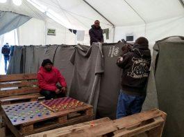 A Greek refugee camp