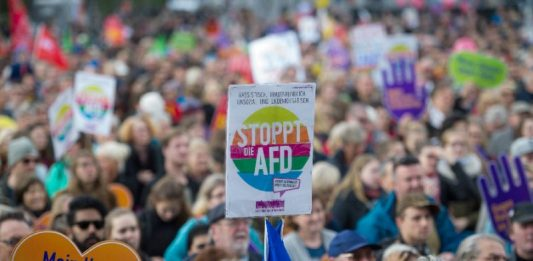 """""""Stop the AfD"""" rally in Germany"""