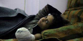 Syrian child Khaled al-Ghorani