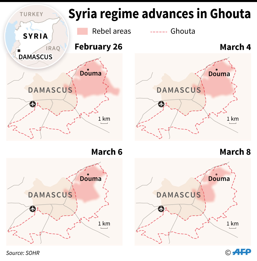 eastern ghouta infographics syrian regime occupation