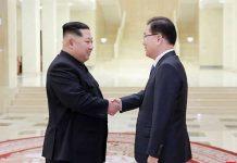 Kim Jong-Un and Chung Eui-yong