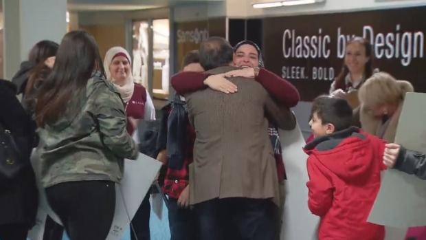 family refugee reunion