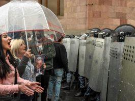 Protesters in Armenia